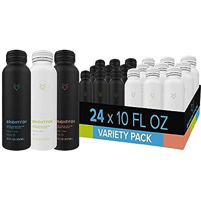 BrightFox Hydration | Sparkling + Still Water Variety Pack | Vitamins (B5, B6, E) Minerals (Zinc, Choline) Antioxidants & Electrolytes | ZERO sugars sweeteners calories coloring stimulants
