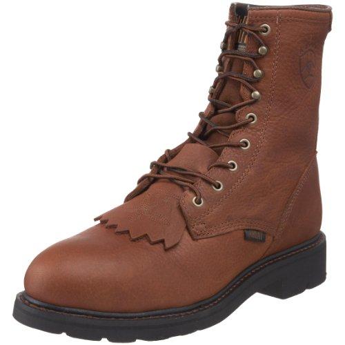 Ariat Men's Cascade 8' Steel Toe Work Boot, Sunshine Wildcat, 10 M US