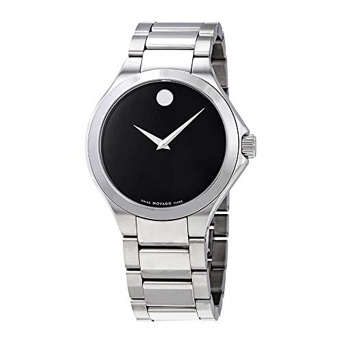 Movado Defio Black Dial Stainless Steel Men's Watch 0607310