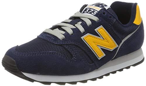New Balance Herren 373 h Sneaker, Blau (Navy/Yellow Aa), 37.5 EU