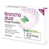Bronchodual Cough Pastilles with Marshmallow Root and Thyme – Relieve Chesty Coughs and Loosen Mucous – Pack of 20 Pastilles