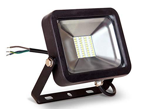 LLT 20W LED Flood Light Outdoor 5000K 100-277V 1500Lm - Replaces 115W HG - LED Yard Lights - Bright Landscape Lighting - Black Compact Backyard Flood Lights - Aluminum and Tempered Glass