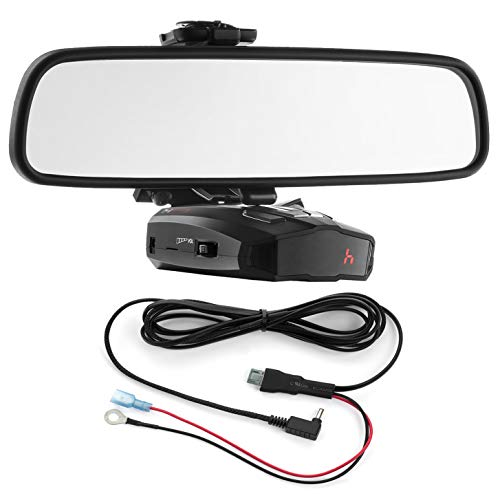 Radar Mount Mirror Mount Bracket + Direct Wire Power Cord for Cobra Radar Detectors (3001203)