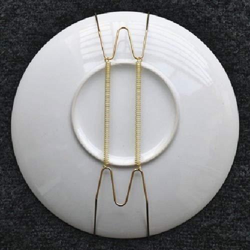 14 pulgadas soporte para platos decorativo de pared con protector de punta 10 pulgadas, 3 unidades soporte para colgar platos con resorte invisible en forma de U Gancho para platos