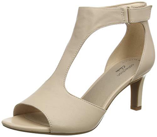 Clarks Alice Flame, Zapatos de Tacón Mujer, Azul (Blush Leather Blush Leather), 37 EU