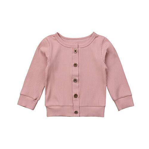 Cárdigan Bebé Niñas Chaqueta Punto para Niñas Rebeca Algodón 100% Talla de Recién Nacido Suéter de Botones (0-24 Meses)