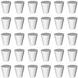 Yemiany Tapones de goma, tapones de tubo cónico Tapón de Goma para Tubos de Ensayo, Fuerte flexibilidad, se puede utilizar en matraces cónicos, botellas de vidrio, etc. 30PCS (blanco)
