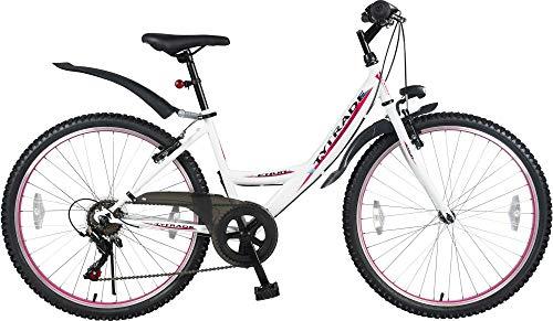 26 Zoll MTB Mountainbike MÄDCHENFAHRRAD Kinder Jugend Fahrrad KINDERFAHRRAD Bike ENUR Weiss MTB 7 Gang TYT19-028