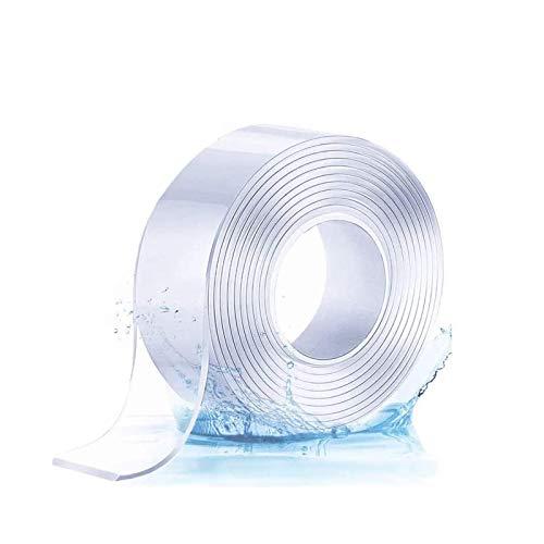 Cintas adhesivas de doble cara Cinta Adhesiva Transparente Magic Nano Tape, Lavable Adhesivo Fuerte Reutilizable Cinta Doble Cara cinta doble cara transparente (5M)