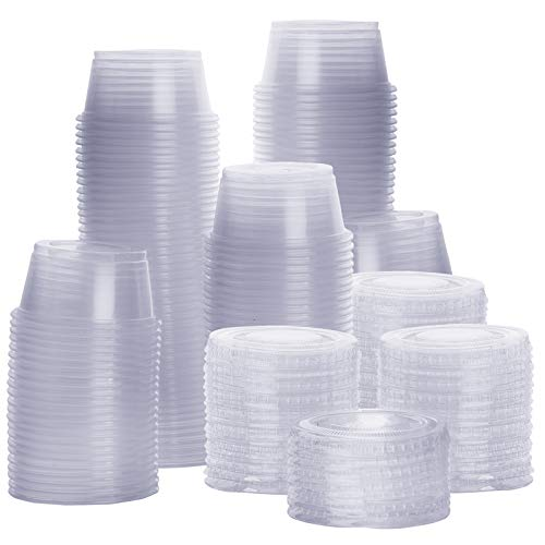 2 oz. Plastic Portion Cups With Lids