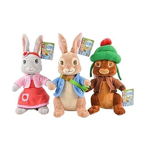 Peluches 3 Piezas De Dibujos Animados Peter Rabbit Serie Personajes De Dibujos Animados Petering Lily Ben Conejo Muñecos De Peluche De Juguete