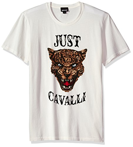 Just Cavalli - Tigre stampata da uomo - bianco - S
