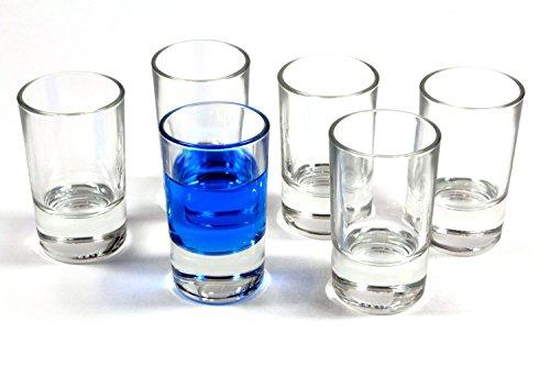 idea-station Straight Schnapsgläser 6 Stück, bis max. 4,2 cl gerade transparent, Gläser-Set 6-teilig - Stamper, Shooter-Gläser, Shot-Gläser, Deko-Glas für Schnaps, Tequila, Gin, Obstbrand und Vodka