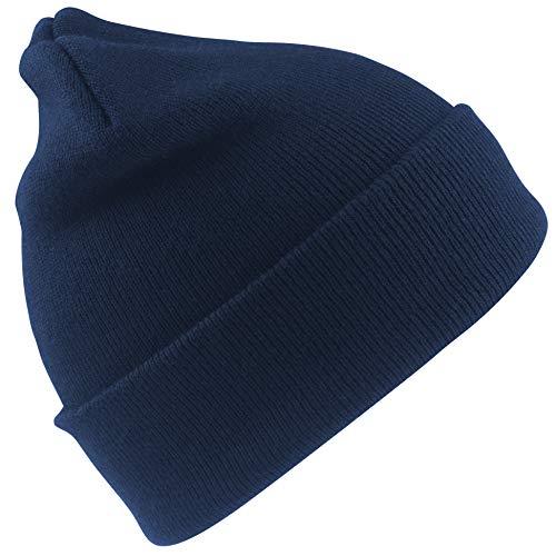 Result - Bonnet Thermique épais (Taille Unique) (Bleu Marine)