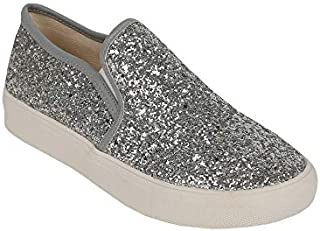 Ivay Women's Sparkly Glitter Fashion Sneakers Canvas...