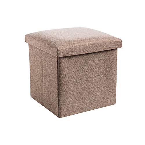 Box Aufbewahrungsbox for Kleidung Lagerung, 2 große Kapazität Lagerbehälter können, setzen Sie Steppdecken, Bettdecken, Kleidung, Decken, Kissen und andere Gegenstände (Color : Khaki)