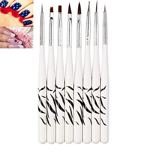 MyEstore Fournitures Nail Art Great 3 Paires de manucure Zebra Brush Set 8 Painter Outil de manucure DIY Kit