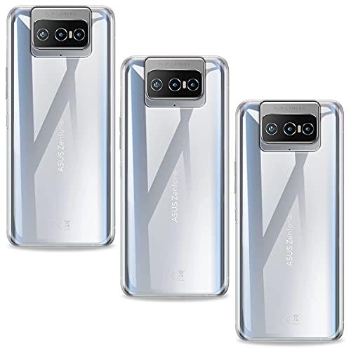 SCDMY Funda para ASUS Zenfone 8 Flip Funda [3 Piezas] Protectora Silicona Carcasa, Ultra Fina Transparente TPU Funda para ASUS Zenfone 8 Flip (6.67') - 3 Piezas Clear Funda