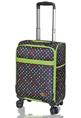 (キウ) kiu スーツケース TSAロック ソフトキャリーケース Mサイズ 20インチ Sサイズ 18インチ スーツケース 軽量 機内持ち込み 旅行 出張 (M 20インチ, マーブルドット)