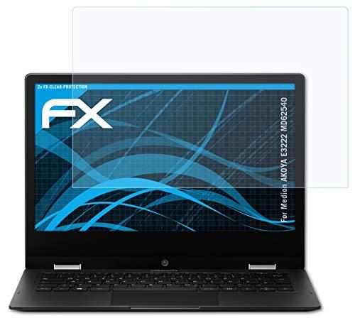 atFolix Schutzfolie kompatibel mit Medion AKOYA E3222 MD62540 Folie, ultraklare FX Bildschirmschutzfolie (2X)