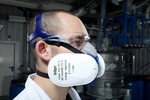 Dräger Schutzbrille X-pect 8330 | Leichte einstellbare Sicherheitsbrille | Für Baustelle, Werkstatt, Fahrrad-Fahren, Joggen | Klar, Kratzfest und beschlagfrei | 10 St. - 7
