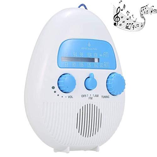 ZZPD draagbare waterdichte douche Radio - douche Speaker Radio Perfect voor douche, zwembad, strand - ingebouwde luidspreker en instelbaar volume