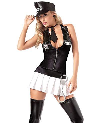 Disfraz sexy de polica de Paula para Halloween (talla nica 6-8)
