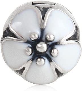 Lotus Flower Clip Lock Charm Authentic 925 Sterling Silver Bead for European Charm Bracelet