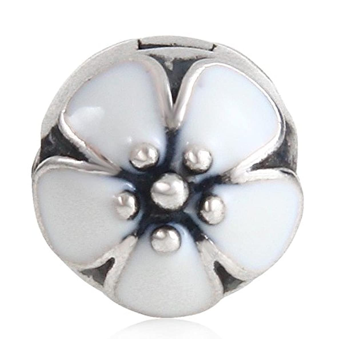 Lotus Flower Clip Lock Charm Authentic 925 Sterling Silver Bead for European Charm Bracelet