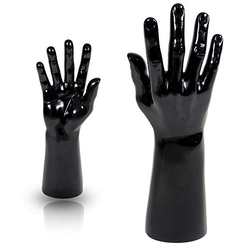 Male Mannequin Hand Display Jewelry Bracelet ring glove Stand holder black