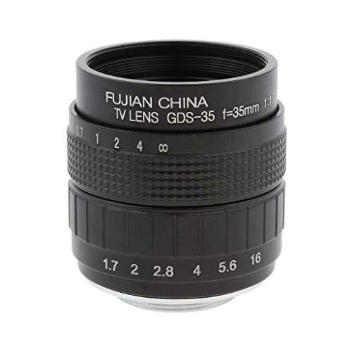 D DOLITY Objetivo Manual de 35 mm F / 1.7 de Gran Apertura Objetivo de Lente APS-C para Olympus Panasonic DSLR Samsung Nikon Pentax Fujifilm - Negro