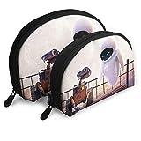 Bolsa de almacenamiento de concha de fantasía de pared, bolsa de embrague bolsa de aseo de viaje, organizador de monedero con 2 piezas