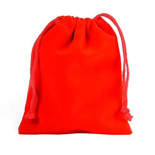 10 unids de Color sólido Paquete de Terciopelo Bolsillo Bolsa de Regalo de Boda pequeña Bolsa de Almacenamiento Joyas joyería Bolsa de Dulces
