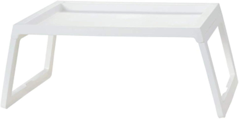 Notebook Stand Desk Wall Table Simple Laptop Desk Lazy Table Foldable Desktop Groove Design Intimate Buckle Dorm Room Bed Table, Polypropylene (color   B)