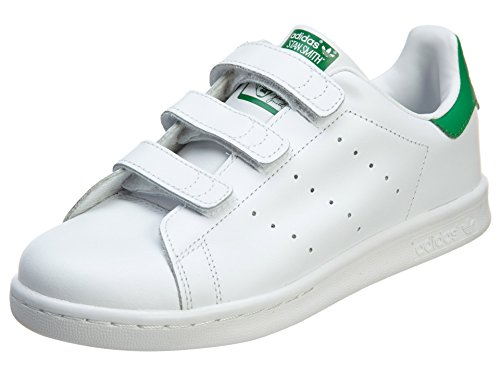 Adidas Scarpe Sneakers Stan Smith Bambini Ragazzi Bianco M20607-BIANCO/VERDE