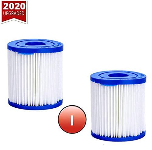 4er-Pack Poolfilter für Bestway Größe I, Poolfilter-Ersatzkartusche, waschbar, für Pool-Reinigung.