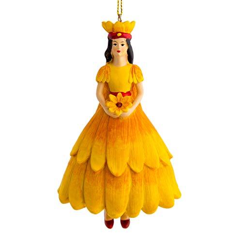 Blumenmädchen Sonnenhut Gelb Dekofigur Kunstblumen Deko-Objekt Blumen-Engel Figur Skulptur Blumenkinder