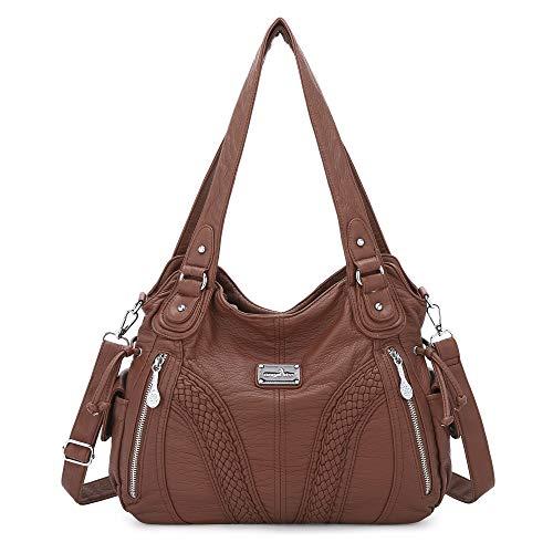 ZOCAI Damenhandtaschen aus Groß mit Brieftasche Umhängetasche Designer-Tasche Hobo-Tasche Reißverschlusstasche Quaste