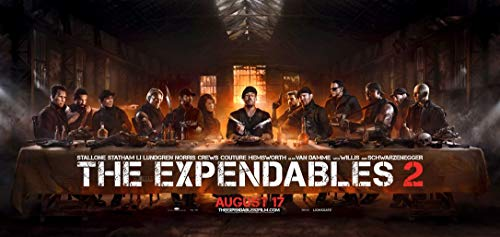 4-HO7238 The Expendables II 126cm x 60cm,51inch x 24inch Silk Print Poster