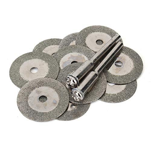 YUQIYU FOR Dremel 10PCS20 mm for las hojas de sierra circular de diamante abrasivo rueda de corte en miniatura de la herramienta de corte molino de disco giratorio