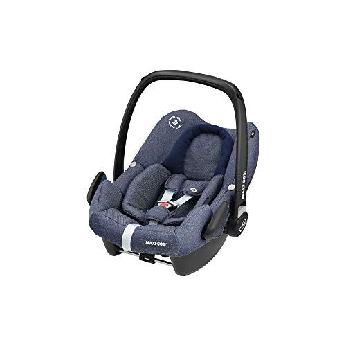 Maxi-Cosi Rock Babyschale, sicherer I-Size Babyautositz, Gruppe 0+ (0-13 kg), nutzbar ab der Geburt bis 12 Monate, Babysitz Auto, Sparkling Blue, Blau