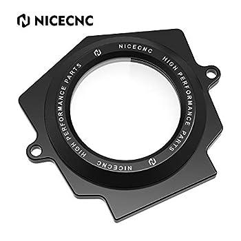 NICECNC Black Aluminum Alloy Full Clear Cam Shaft Cover Compatible with Yamaha Raptor 700 YFM700R 2006 2017 2018 2019 2020