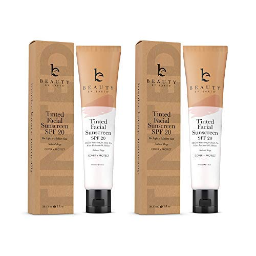 Tinted Sunscreen for Face - SPF 20 …
