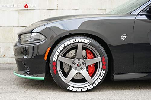 PS 4x SUPREME Reifenbeschriftung Reifen Aufkleber 4x Gummi Tire Tyre Sticker Set passend auf 14