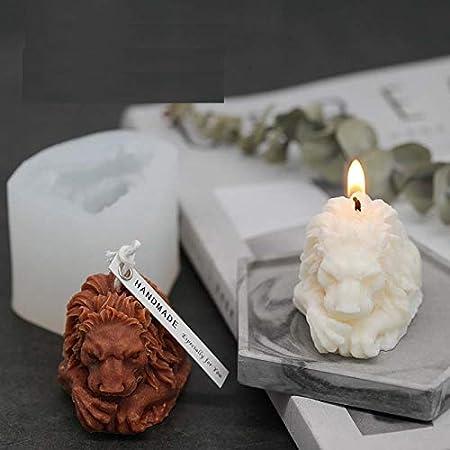 7horse® 3D Vintage Art Classic Lion Candle Mold Animal Sculpture Silicone Mold Soap Mould