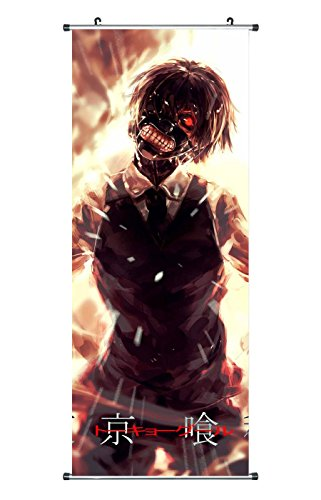 CoolChange Großes Tokyo Ghoul Rollbild / Kakemono aus Stoff Poster, 100x40cm, Motiv: Ken Kaneki, Bild 2
