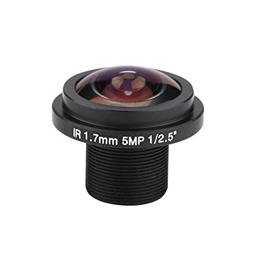 5MP HD Cámara de Seguridad, Cámara de Vigilancia con Lentes de Ojo de Pez + Distancia Focal de 1.7mm + Lente CCTV de 185 ° para el Hogar Oficina Coche Casa