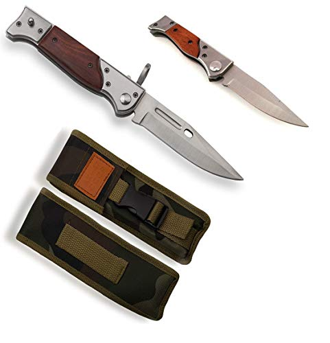 KOSxBO® Set 2 CCCP 47 Taschenmesser Set 22 cm und 16,5 cm mit Etui Jagdmesser Outdoormesser Gürtelmesser Russian Knife Set