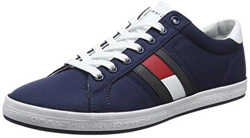 Tommy Hilfiger Essential Flag Detail Sneaker, Zapatillas Hombre, Azul (Tommy Navy 406), 41 EU