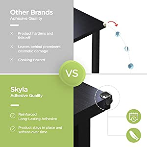 ELLA'S HOMES CLEAR CORNER PROTECTORS | High Resistant Adhesive Gel | Best Baby Proof Corner Guards | Stop Child Head Injuries | Tables, Furniture & Sharp Corners Baby Proofing (Ball-Shaped)